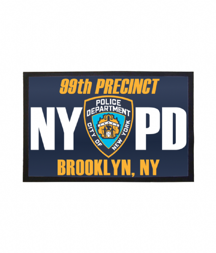99th Precinct NYPD Doormat Welcome Mat Inspired by Brooklyn 99